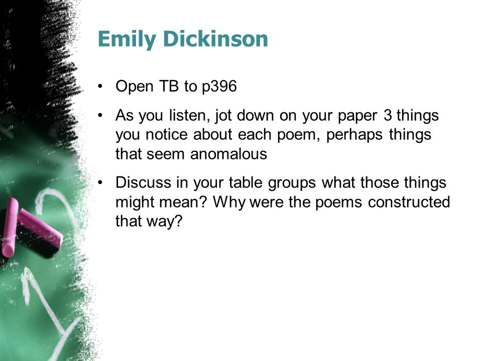 Emily Dickinson Open TB to p396