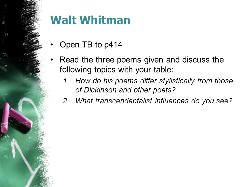 Walt Whitman Open TB to p414