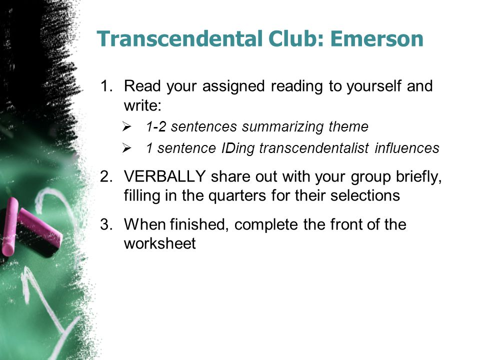 Transcendental Club: Emerson