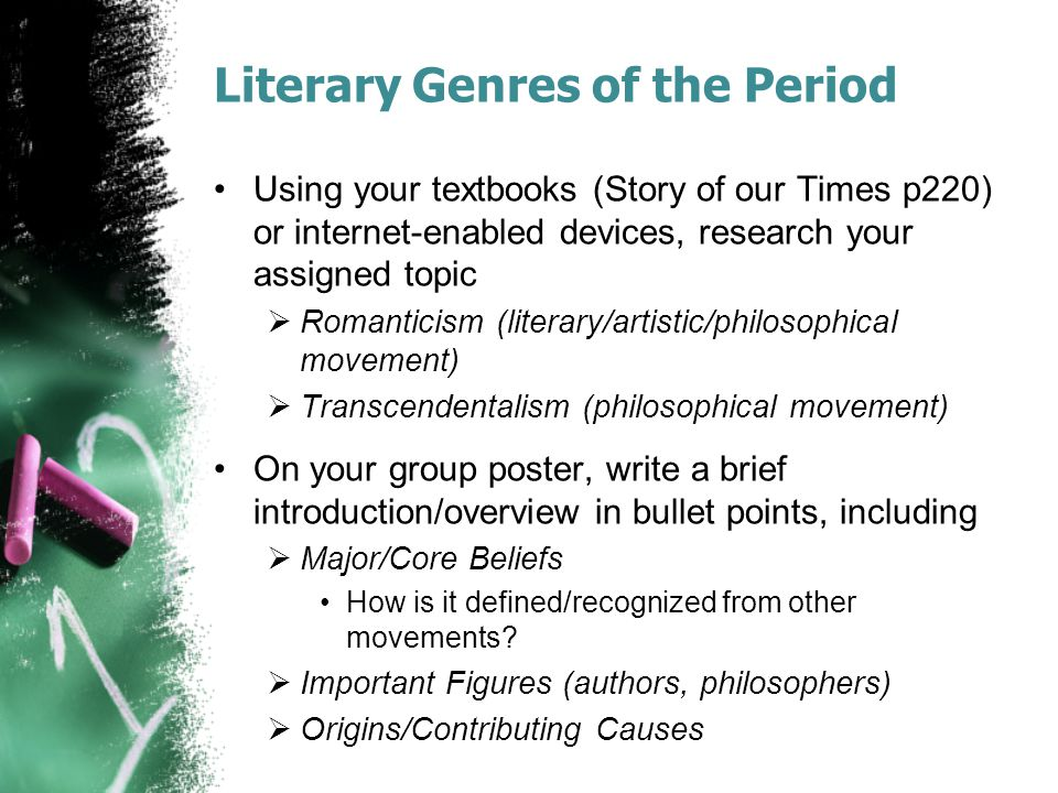 Literary Genres of the Period