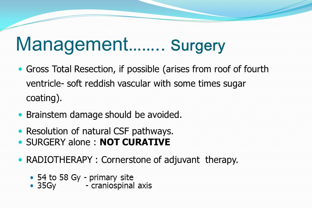 Management…….. Surgery