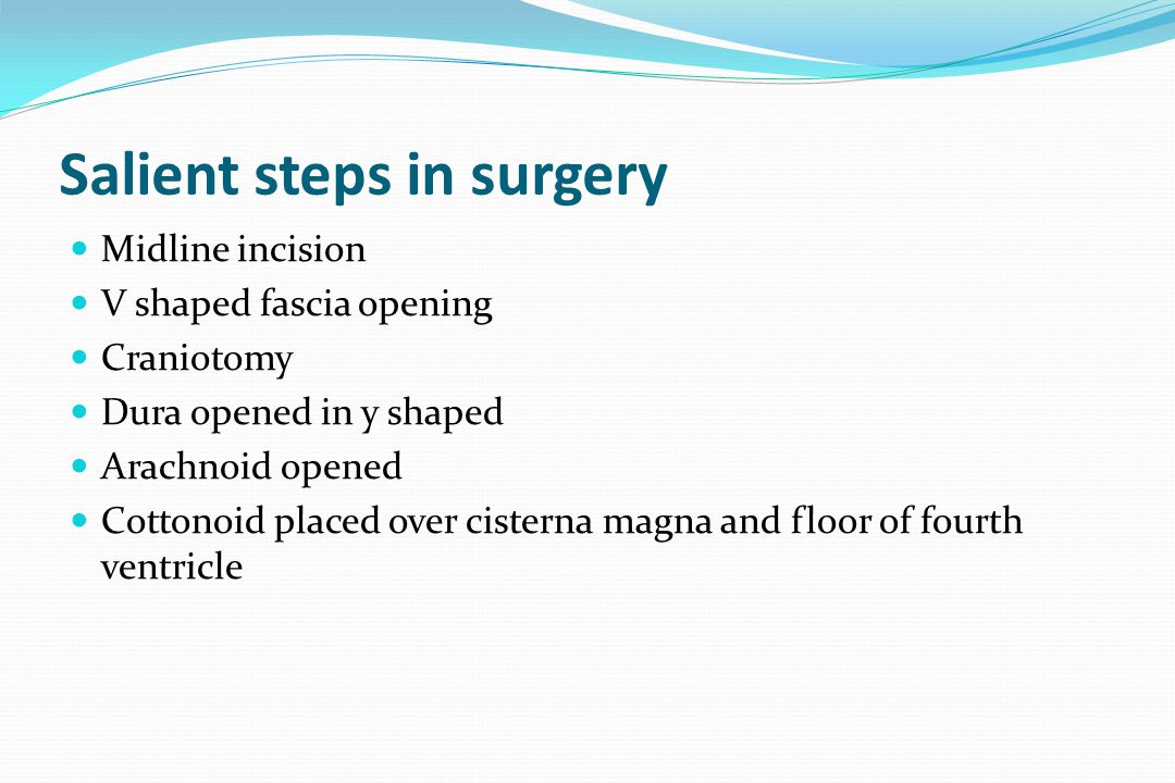 Salient steps in surgery