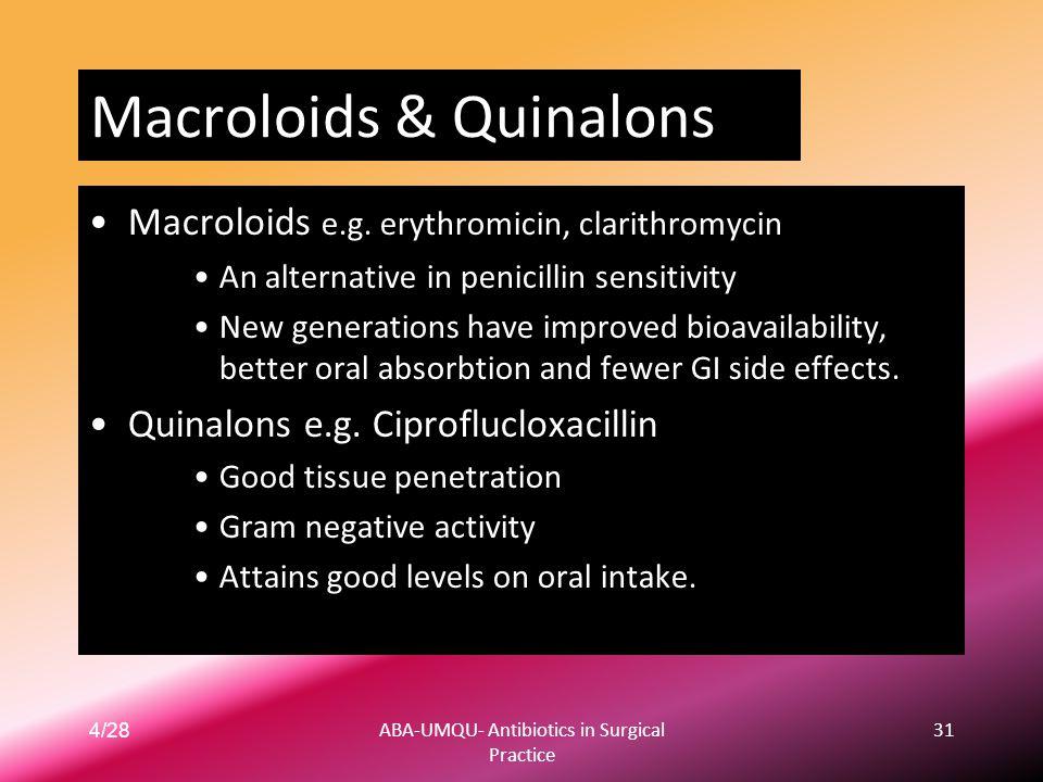 Macroloids & Quinalons