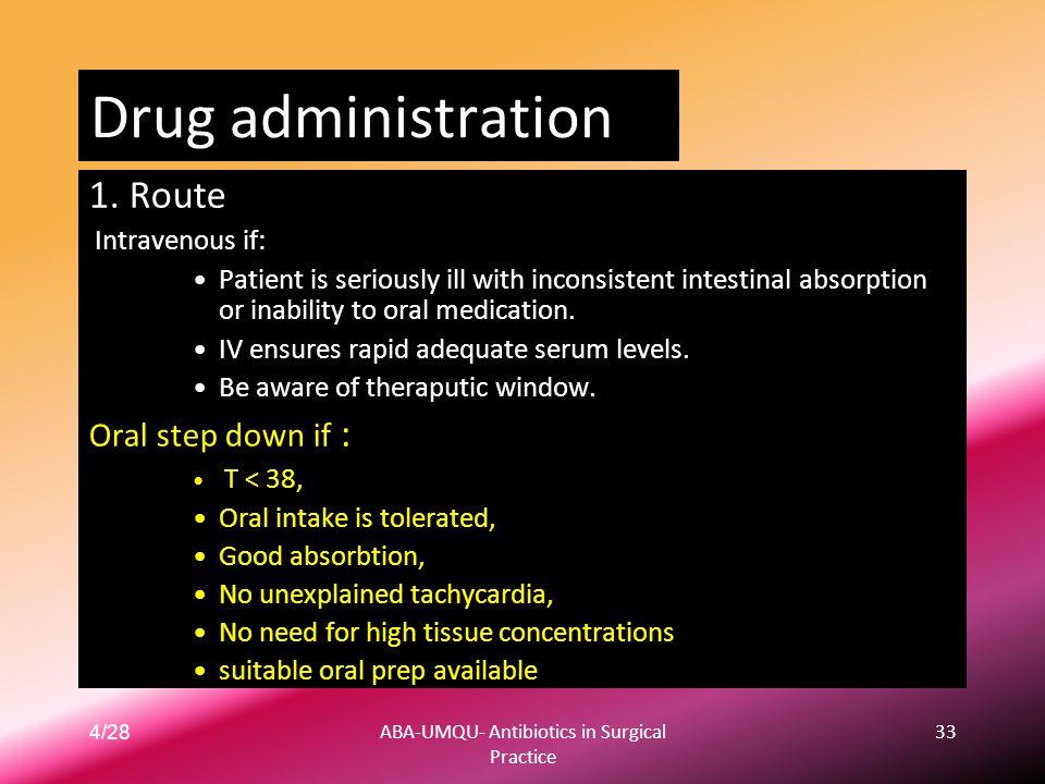 ABA-UMQU- Antibiotics in Surgical Practice