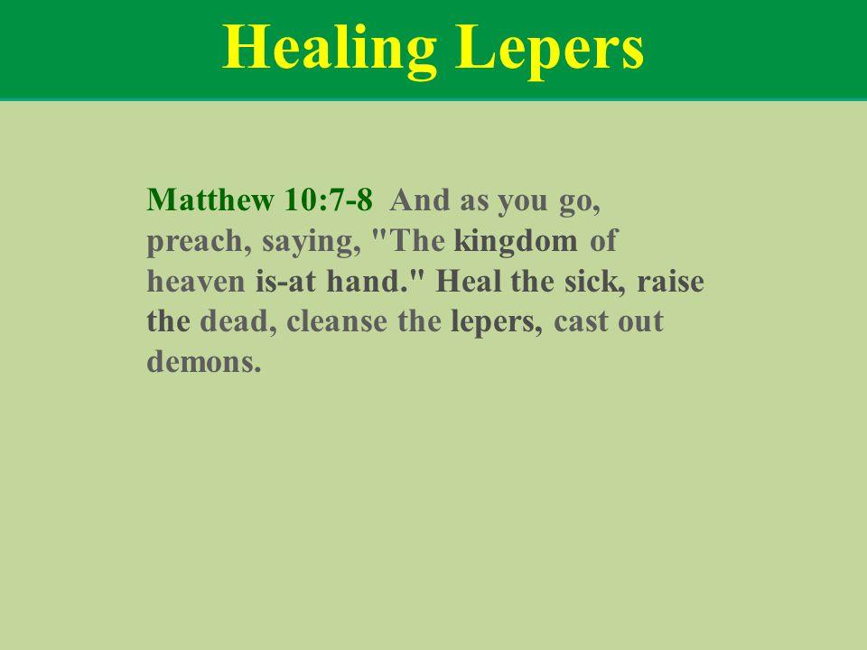 Healing Lepers