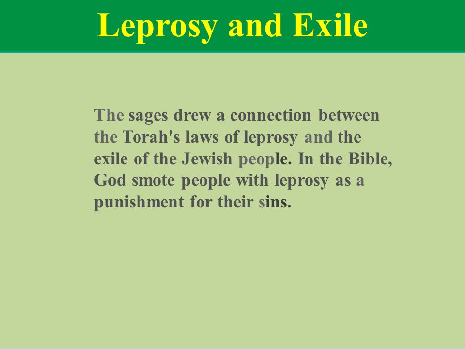 Leprosy and Exile