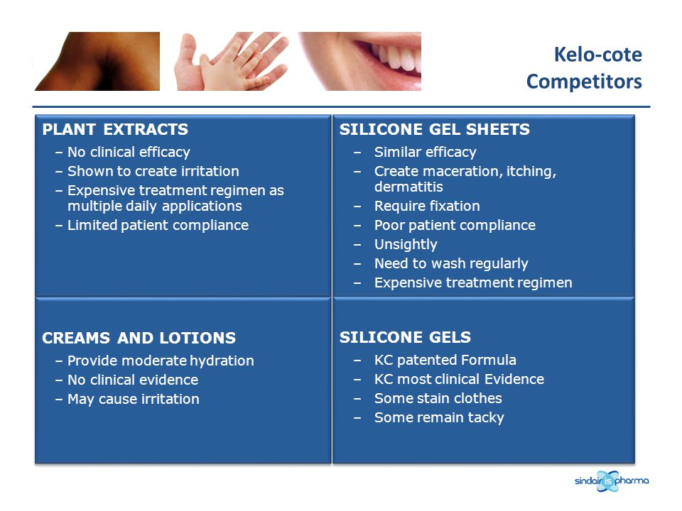 Kelo-cote Competitors PLANT EXTRACTS SILICONE GEL SHEETS