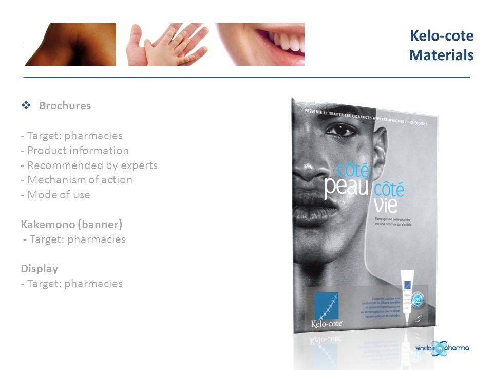 Kelo-cote Materials Brochures - Target: pharmacies