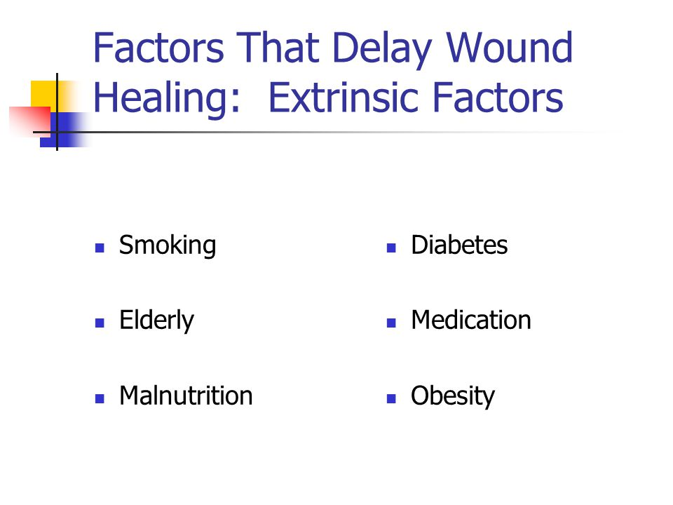 Factors That Delay Wound Healing: Extrinsic Factors