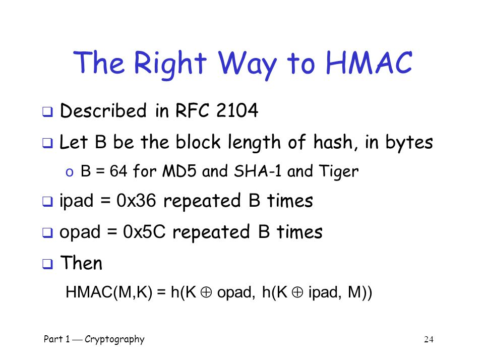 The Right Way to HMAC Described in RFC 2104