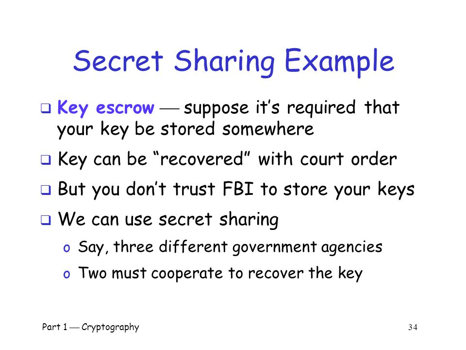 Secret Sharing Example