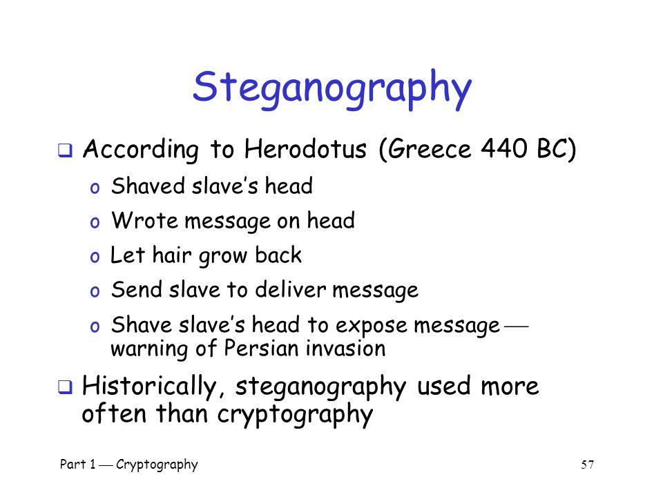 Steganography According to Herodotus (Greece 440 BC)