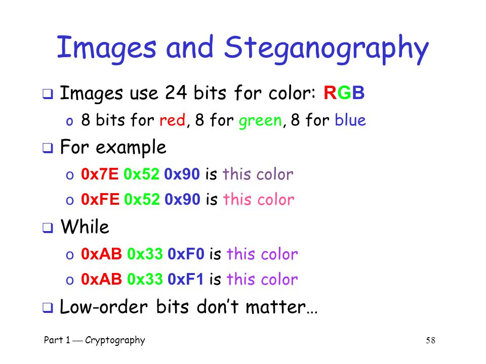 Images and Steganography