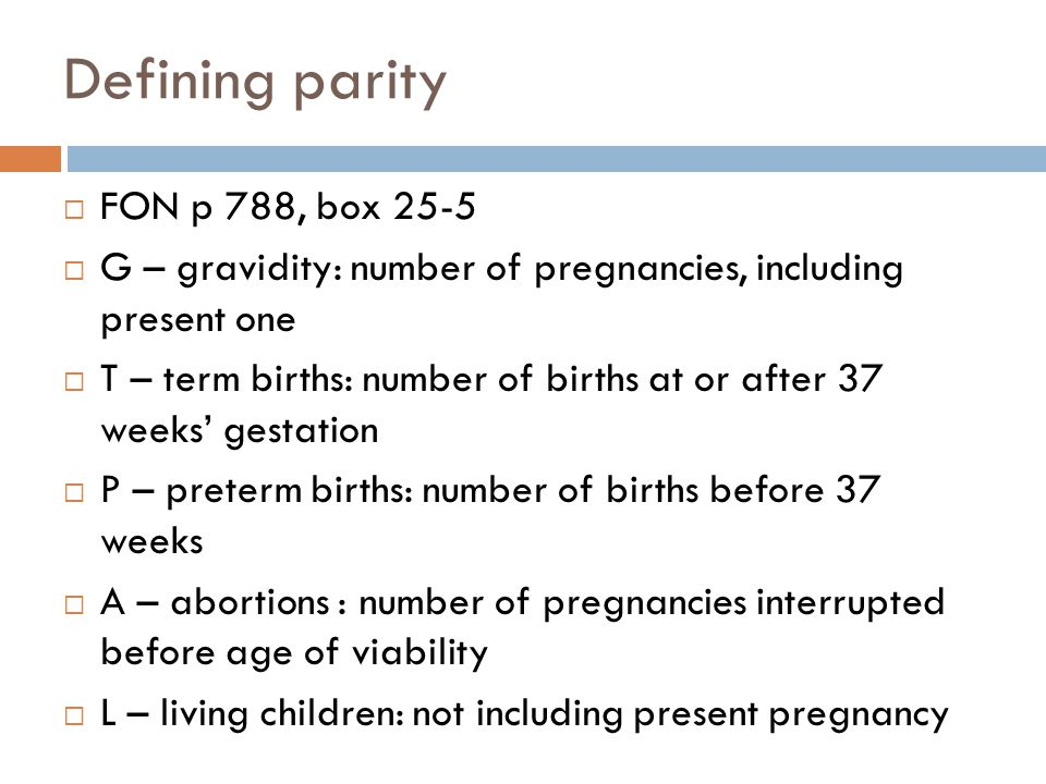 Defining parity FON p 788, box 25-5