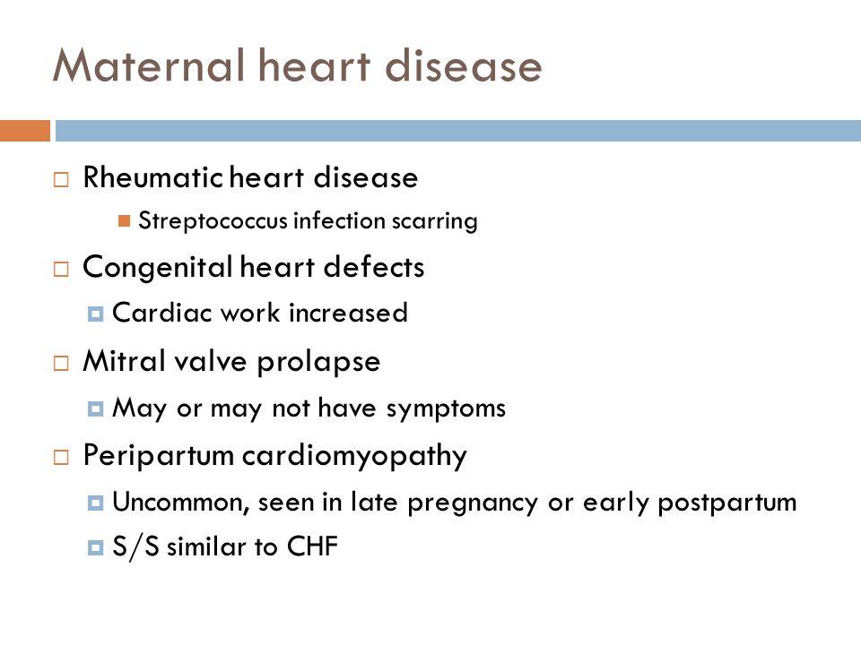 Maternal heart disease