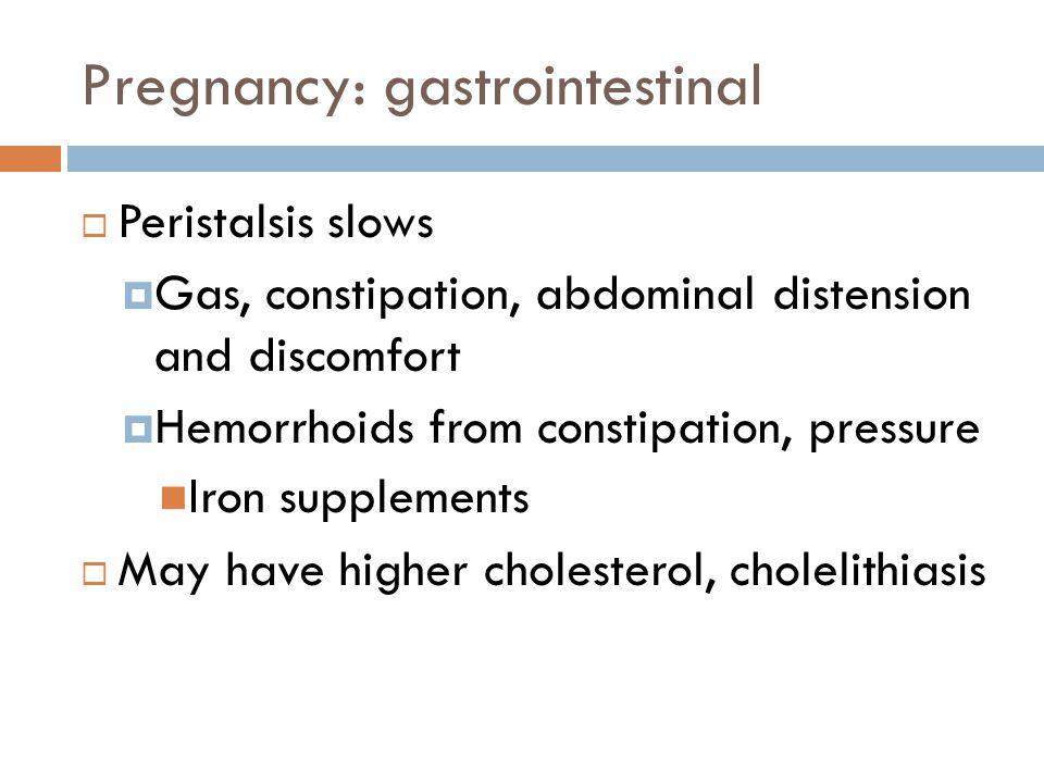 Pregnancy: gastrointestinal