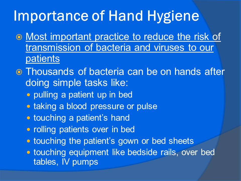 Hand hygiene: Back to the basics of infection control