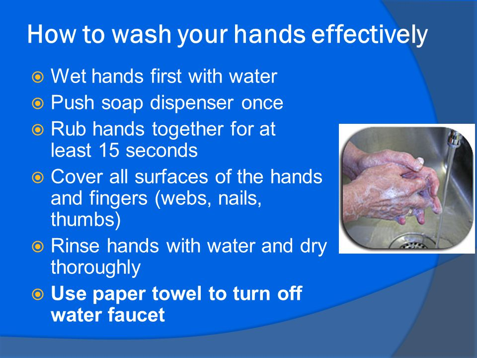 How to wash your hands effectively
