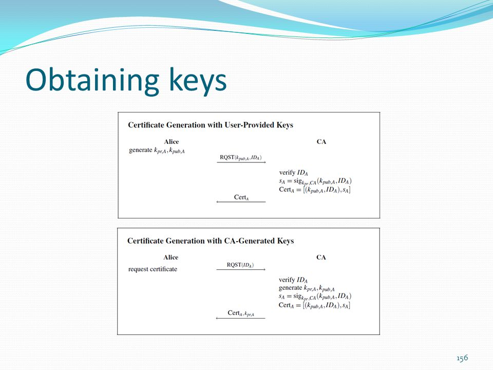 Obtaining keys
