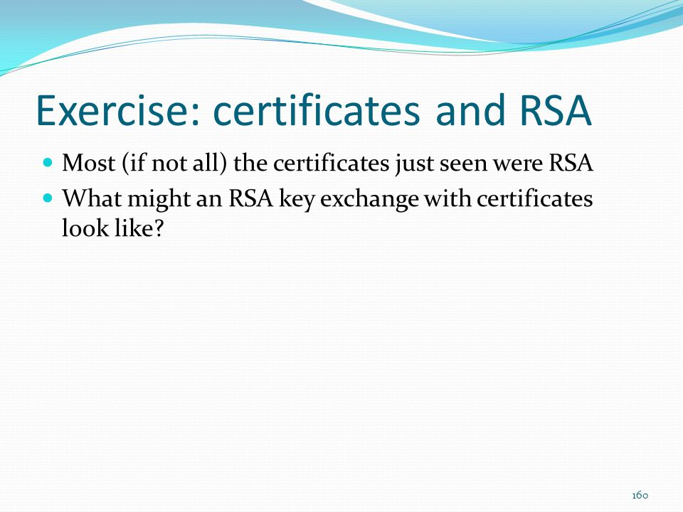 Exercise: certificates and RSA