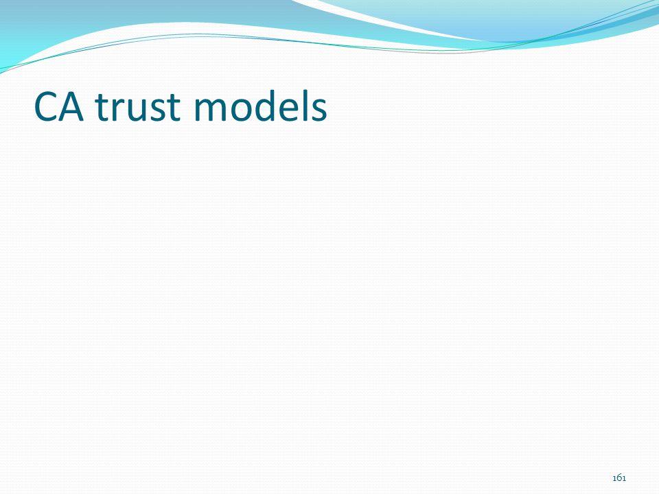 CA trust models