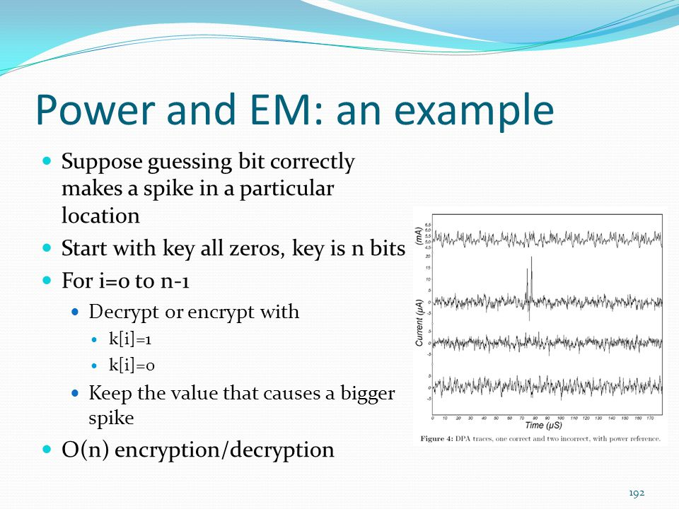 Power and EM: an example