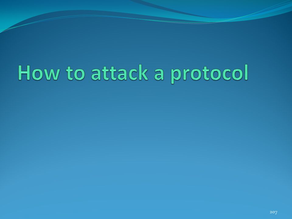 How to attack a protocol