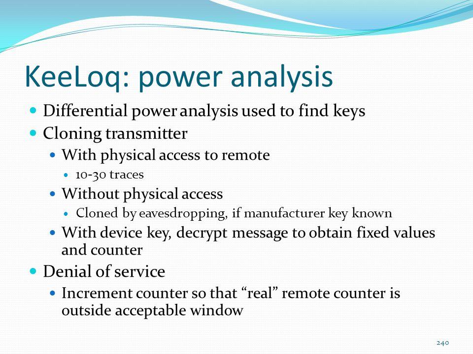 KeeLoq: power analysis