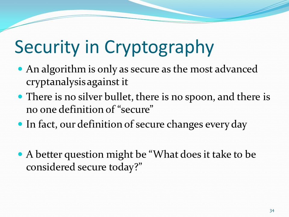 Security in Cryptography