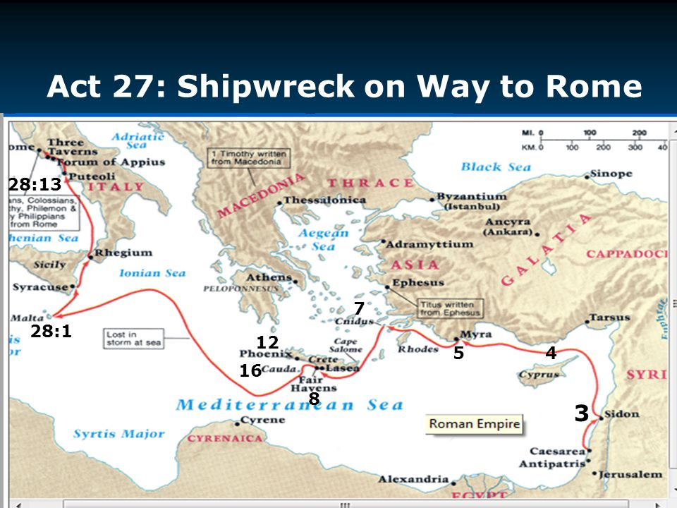 Act 27: Shipwreck on Way to Rome