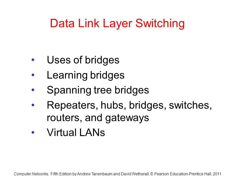 Data Link Layer Switching