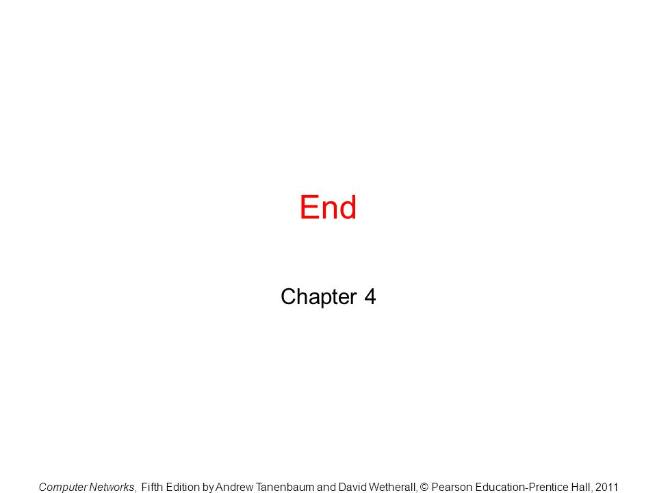 End Chapter 4