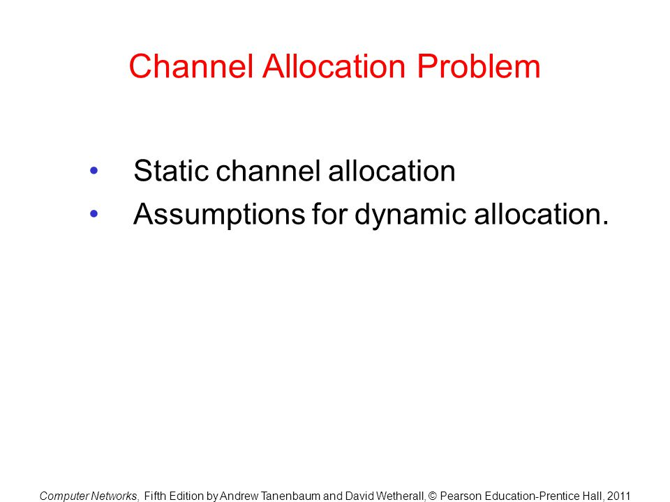 Channel Allocation Problem