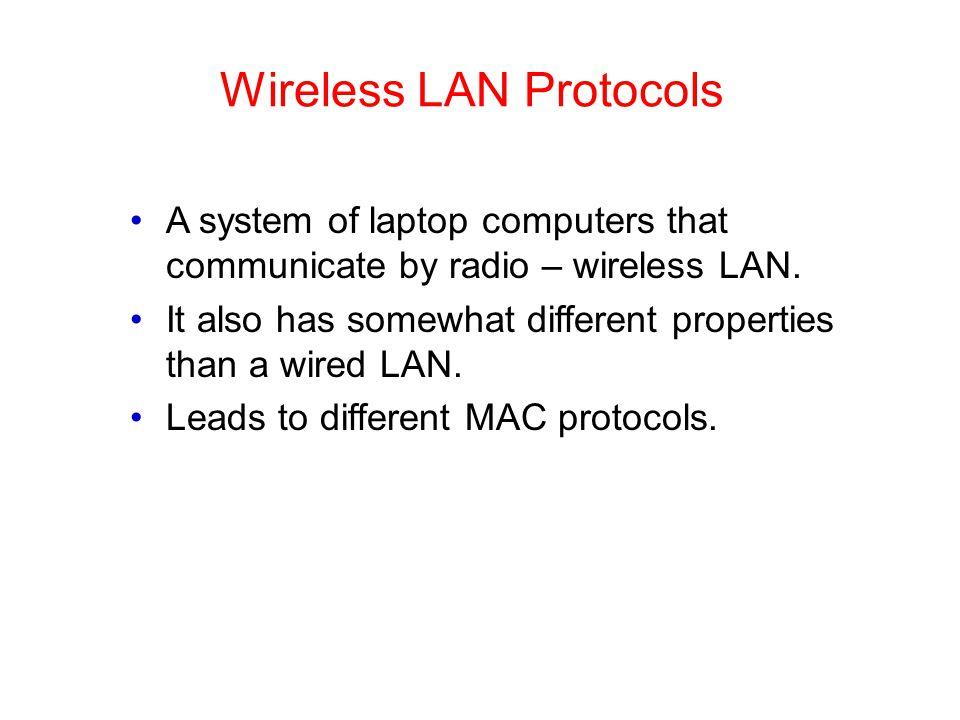Wireless LAN Protocols