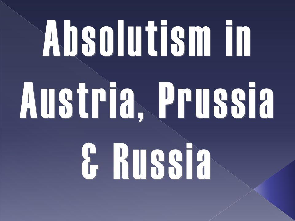 Austria, Prussia & Russia