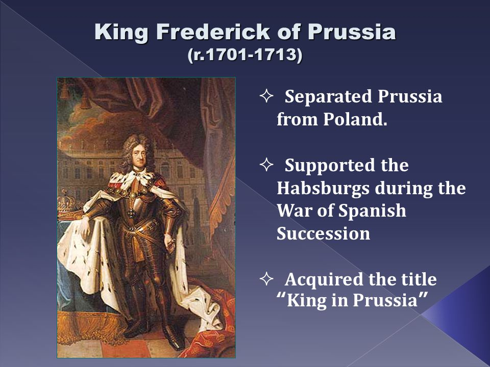 King Frederick of Prussia