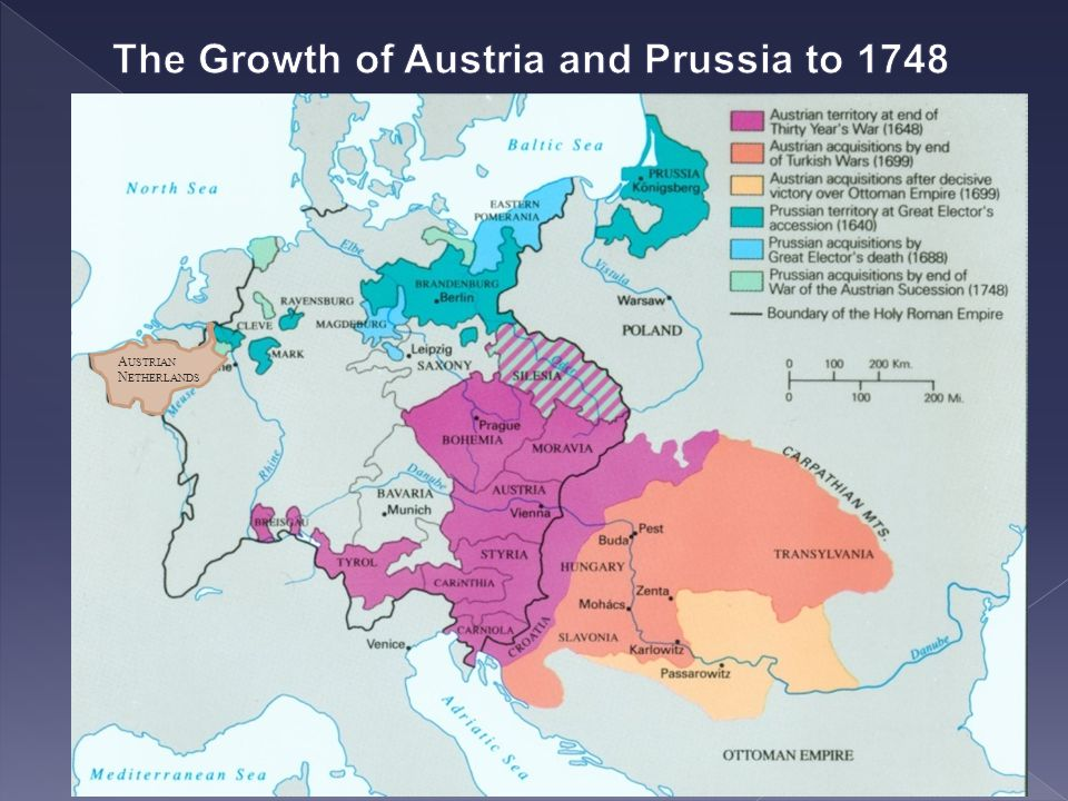 The Growth of Austria and Prussia to 1748