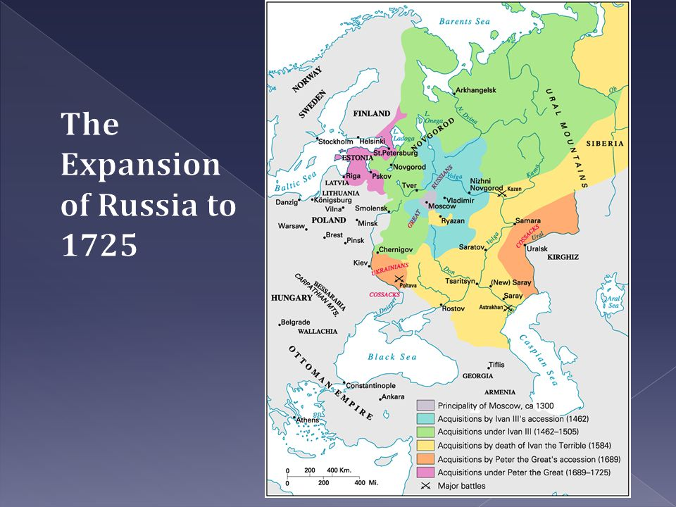 The Expansion of Russia to 1725