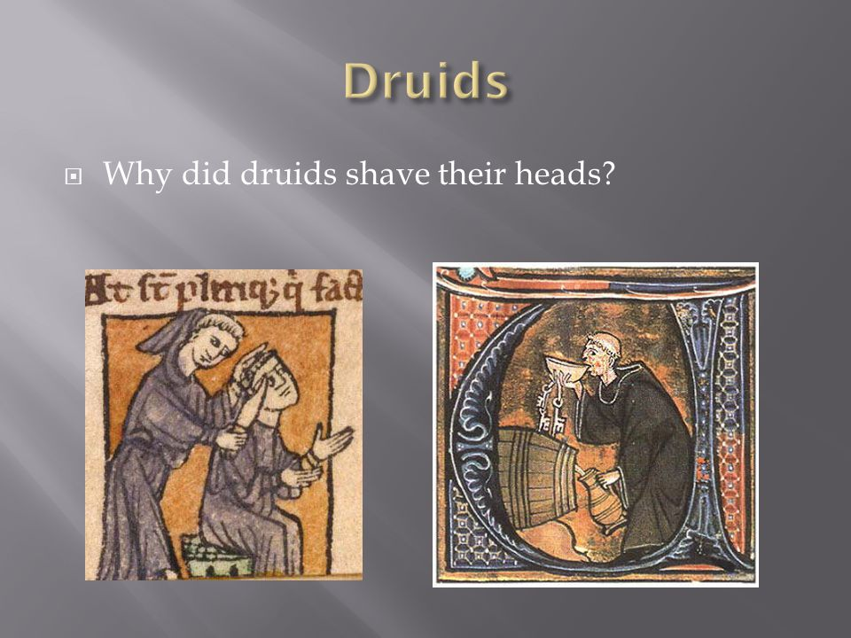 Druids Why did druids shave their heads