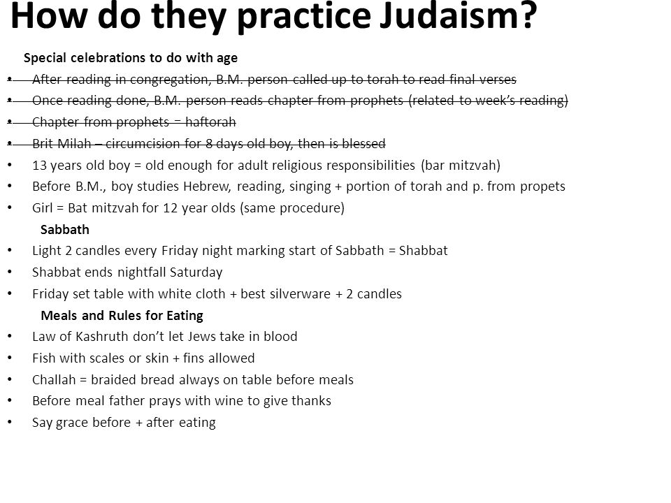 How do they practice Judaism