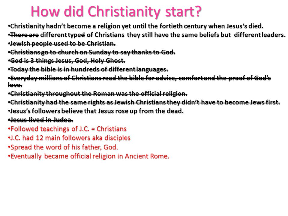 How did Christianity start