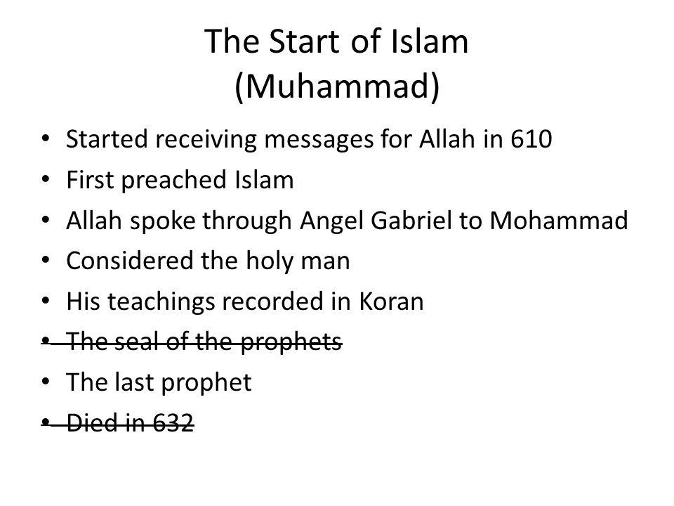 The Start of Islam (Muhammad)