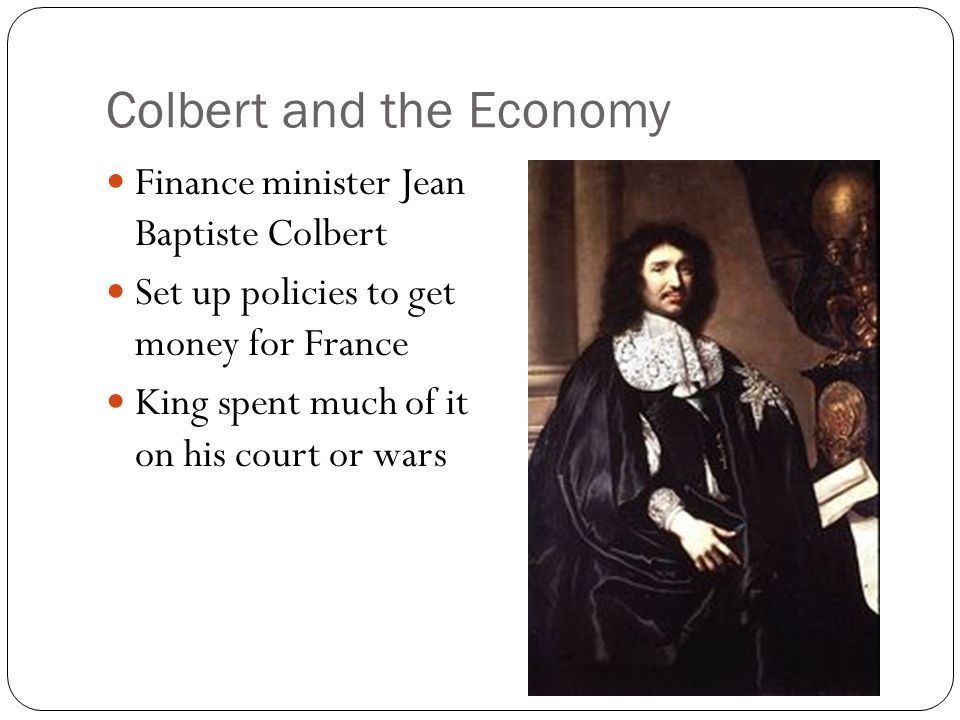 Colbert and the Economy