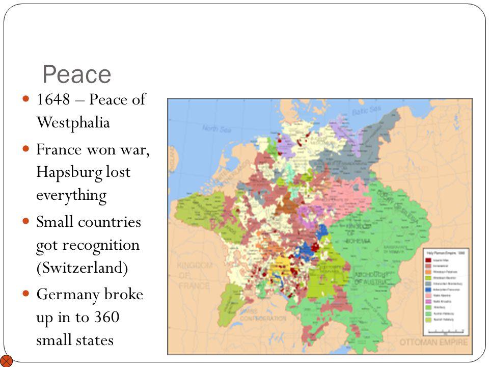 Peace 1648 – Peace of Westphalia