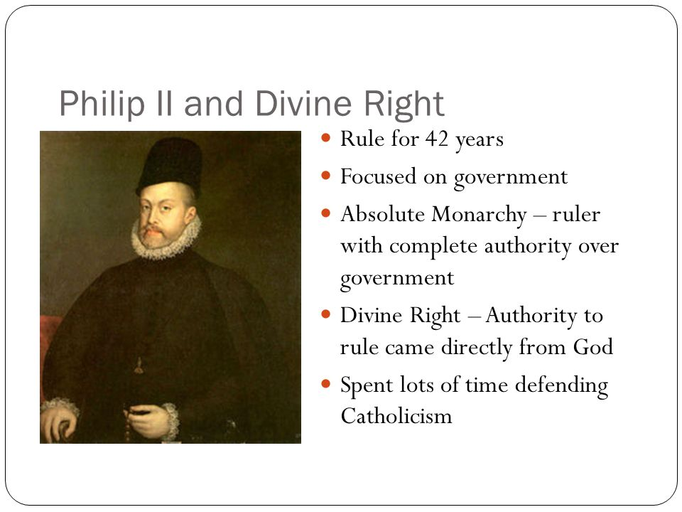 Philip II and Divine Right