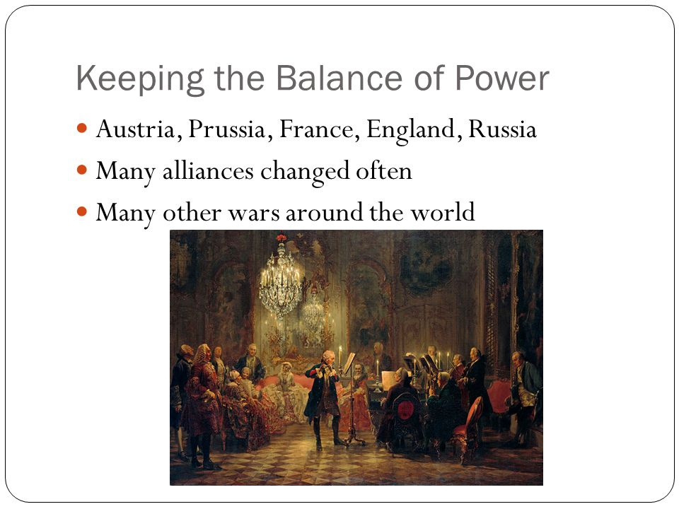 Keeping the Balance of Power