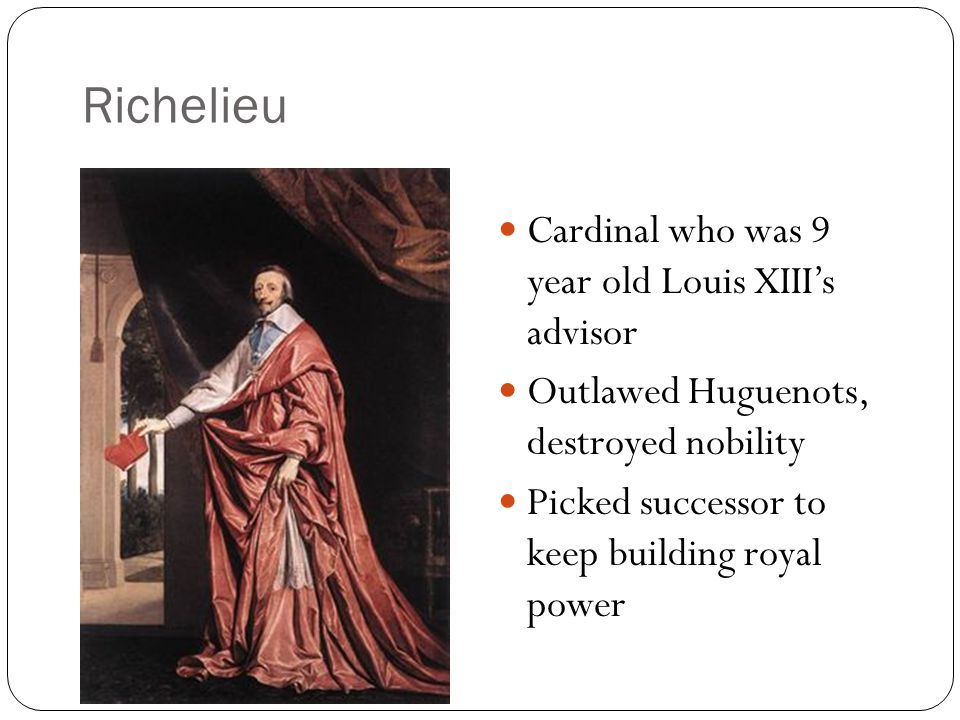 Richelieu Cardinal who was 9 year old Louis XIII's advisor