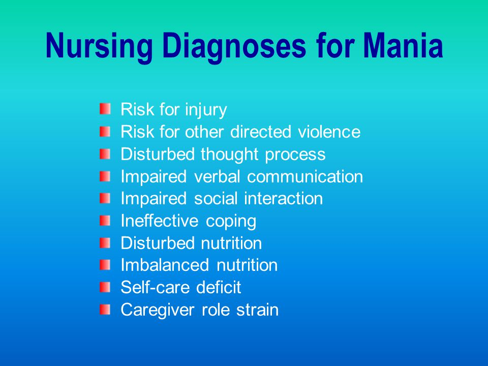 Nursing Diagnoses for Mania