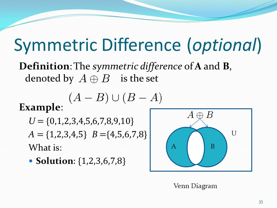 Symmetric Difference (optional)