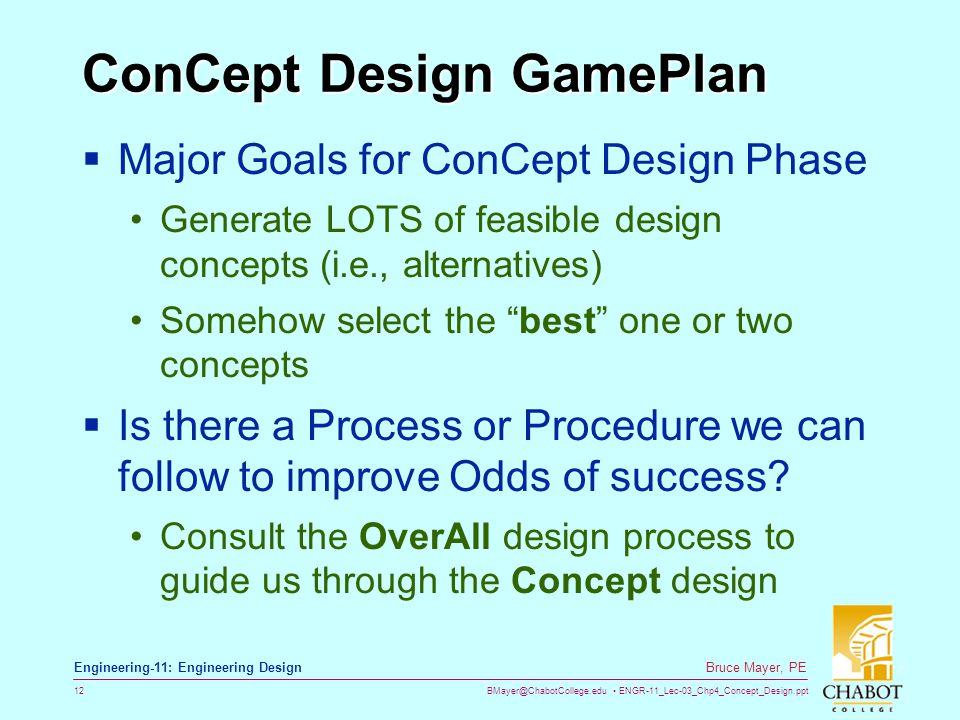 ConCept Design GamePlan